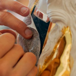 Restaurierung durch Kirchenmalermeisterin Fabienne von der Hocht